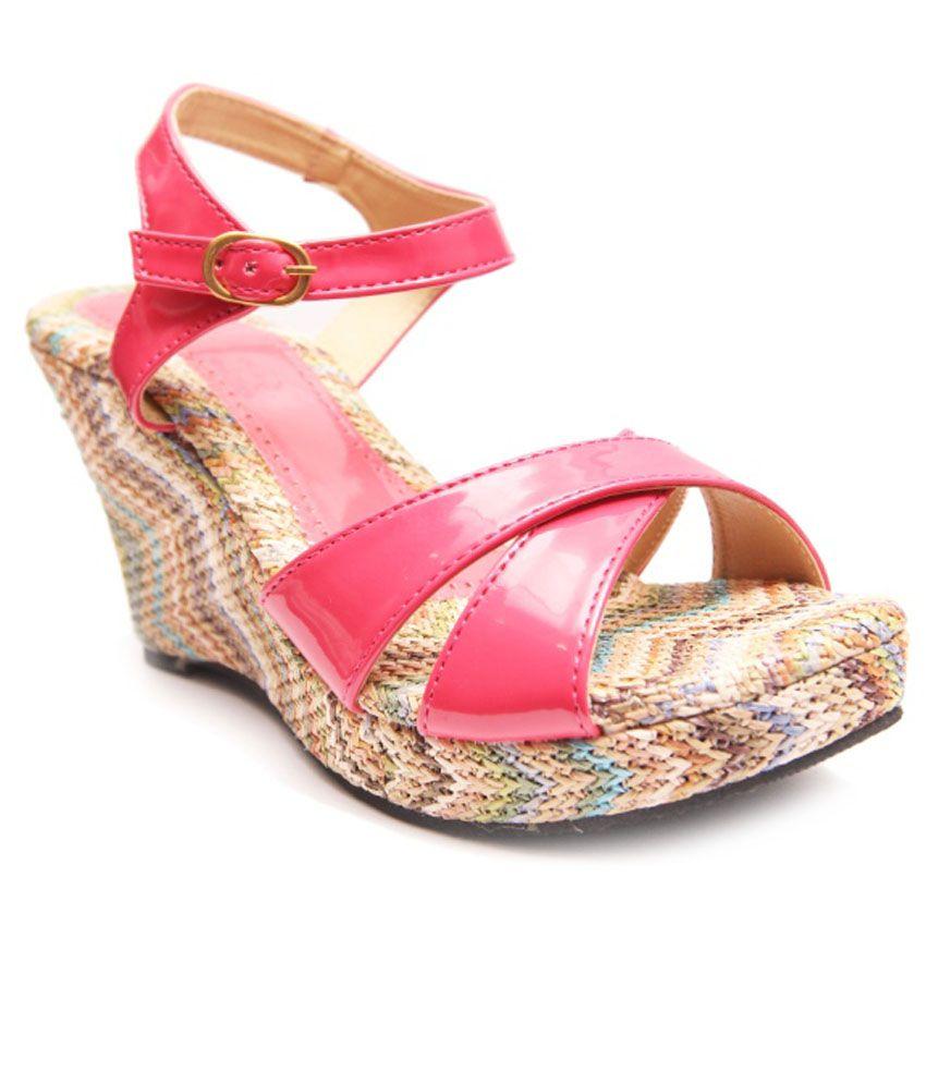 Oh Feet ! Pink Wedges Heels