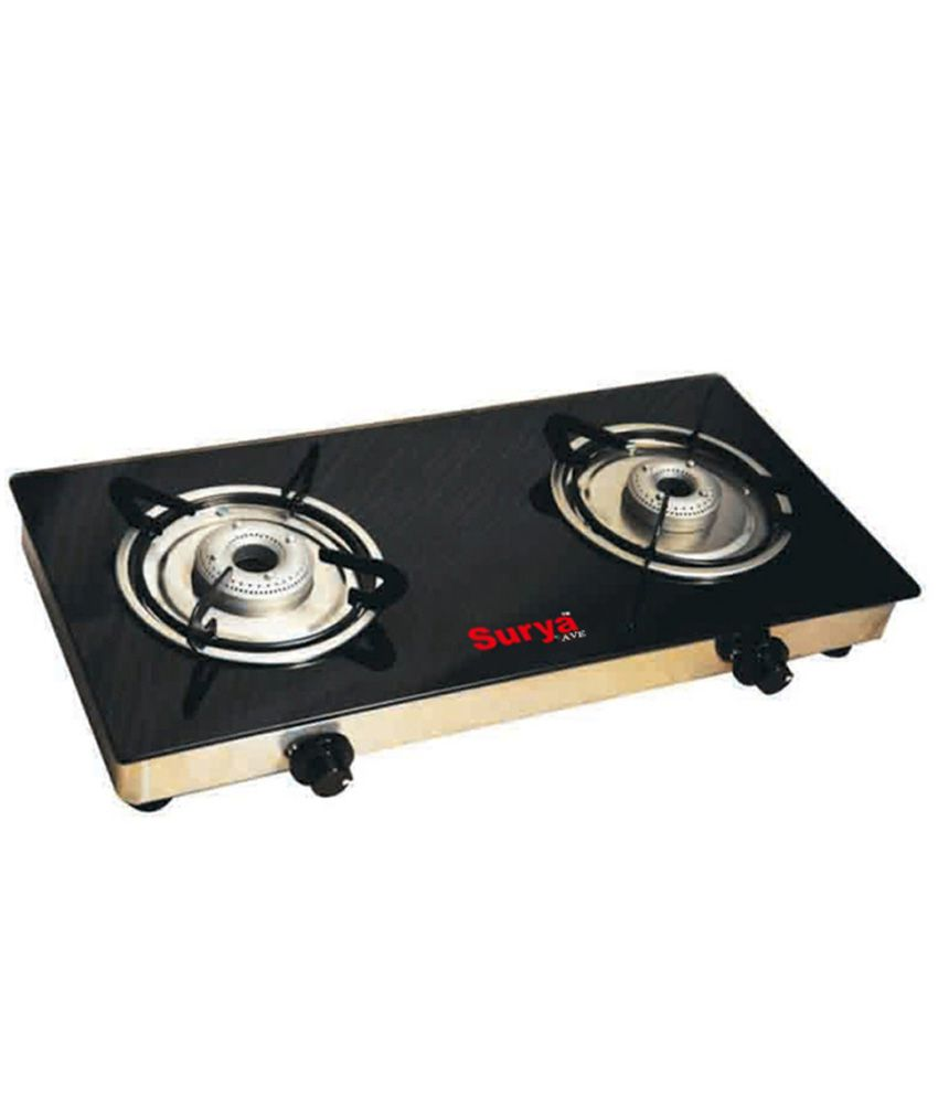 Surya AVE SS 2 Burner Gas Cooktop