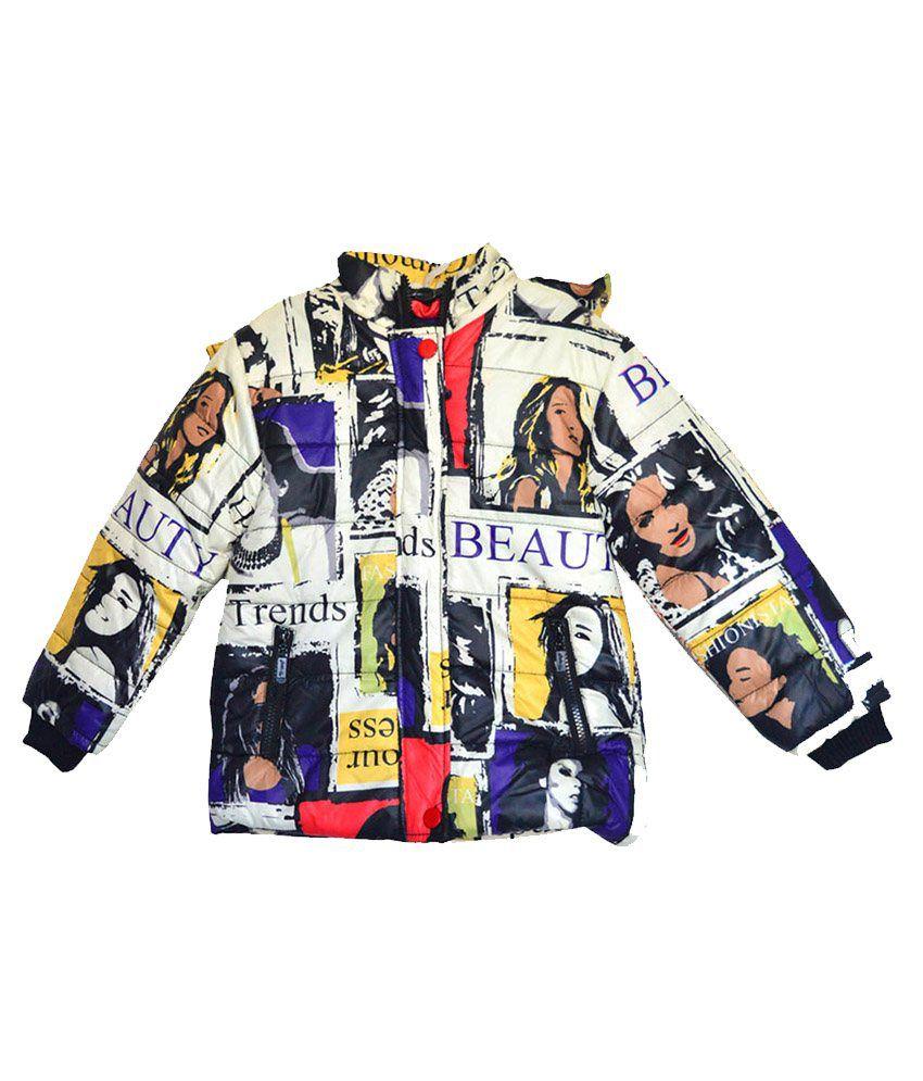 London Girl Digital Print Hooded Jackets
