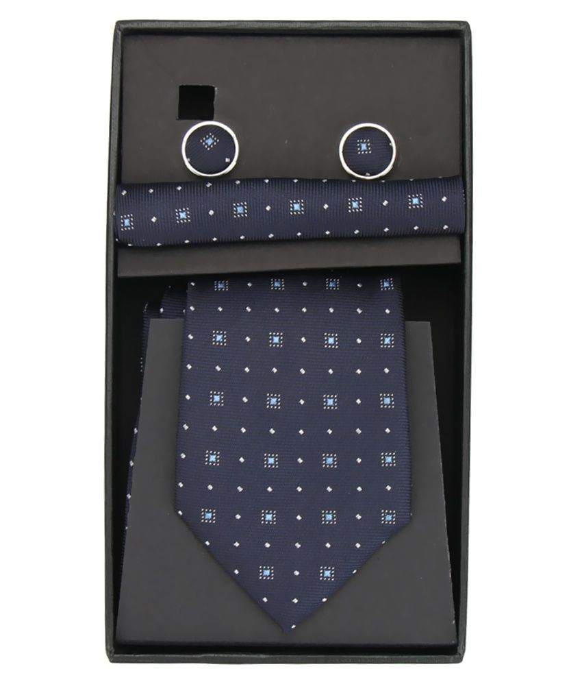 Magson Neo Navy Blue Jacquard Abstract Formal Tie