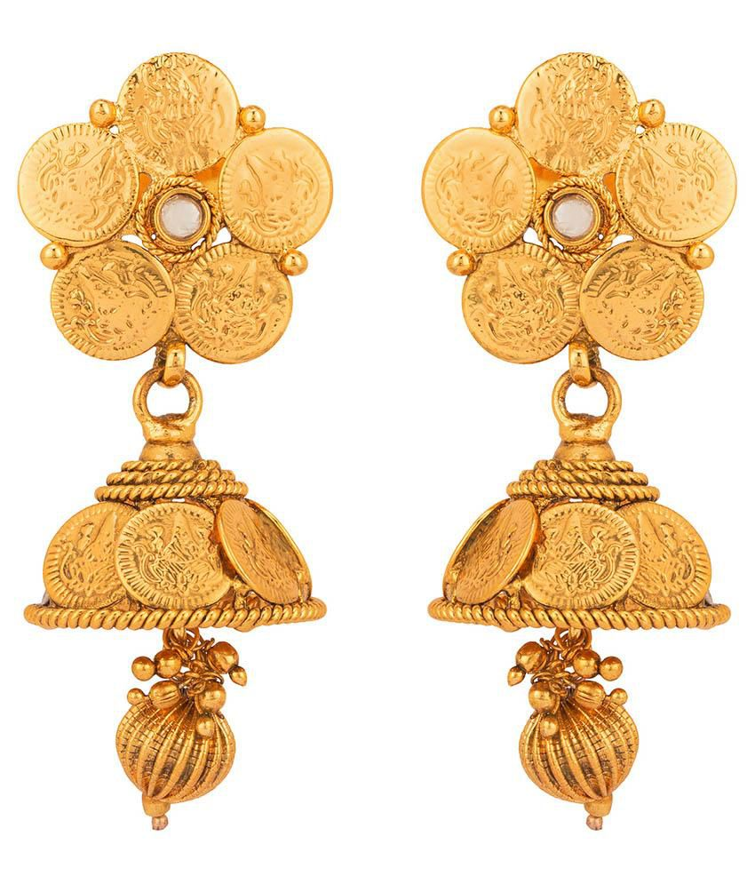 Rajwada Arts Gold Plated Temple Design Traditional Earringss