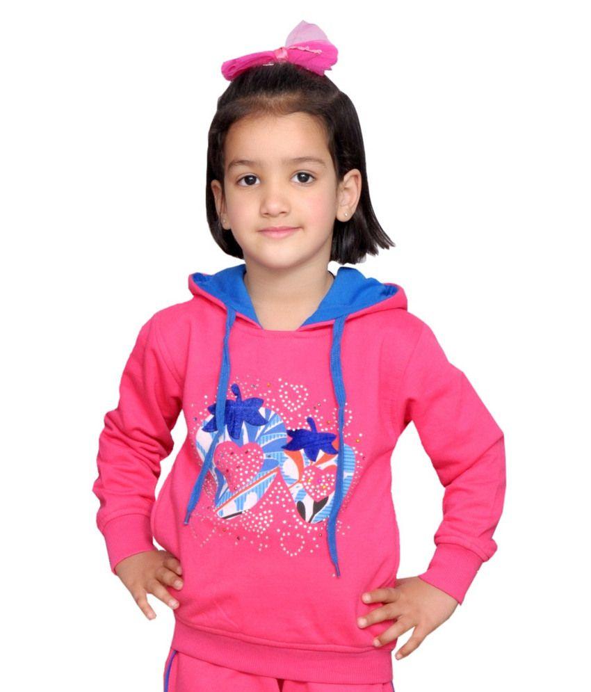 Shaun Stylish Printed Hooded Sweatshirt For Girls