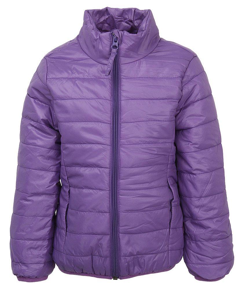 United Colors Of Benetton Purple High Neck Jacket