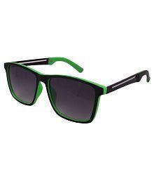 Sushito Black And Green Wayfarer Sunglasses