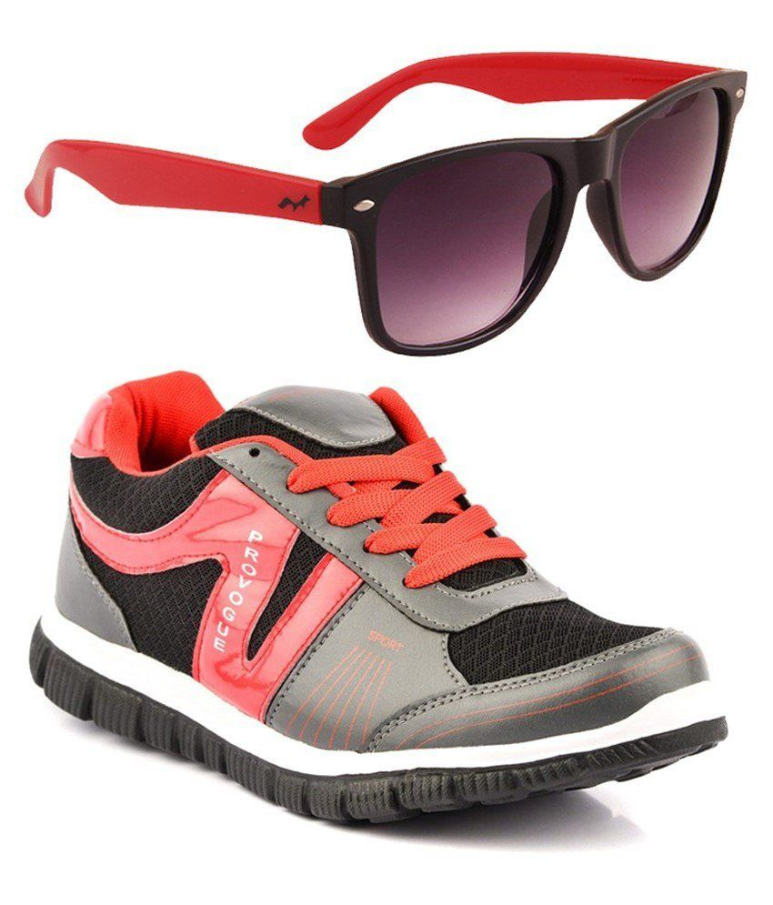 Provogue Combo Of Gray Sports Shoes With Sunglasses
