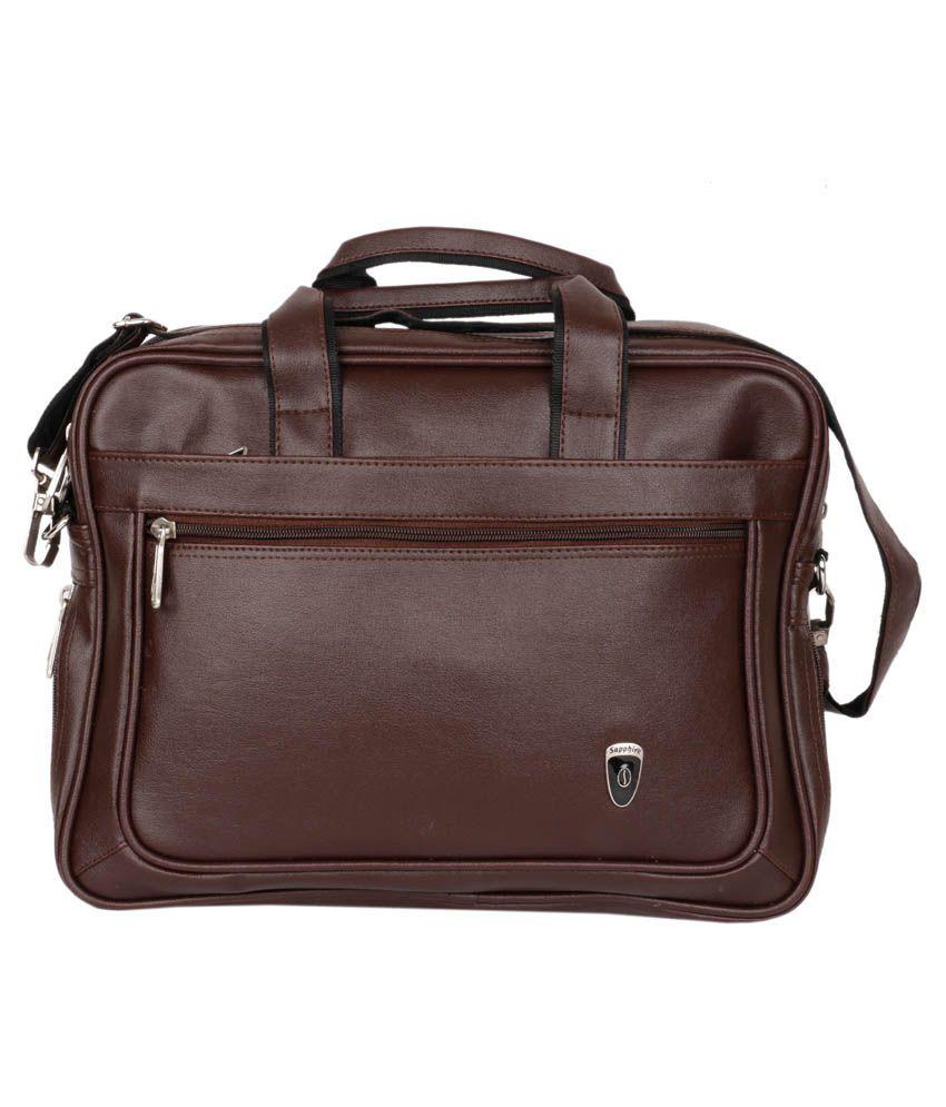 Sapphire Brown Laptop Bag