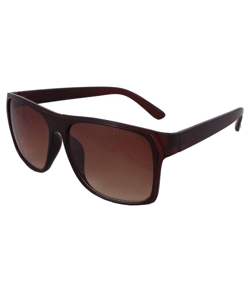 Sushito Brown Wayfarer Sunglasses