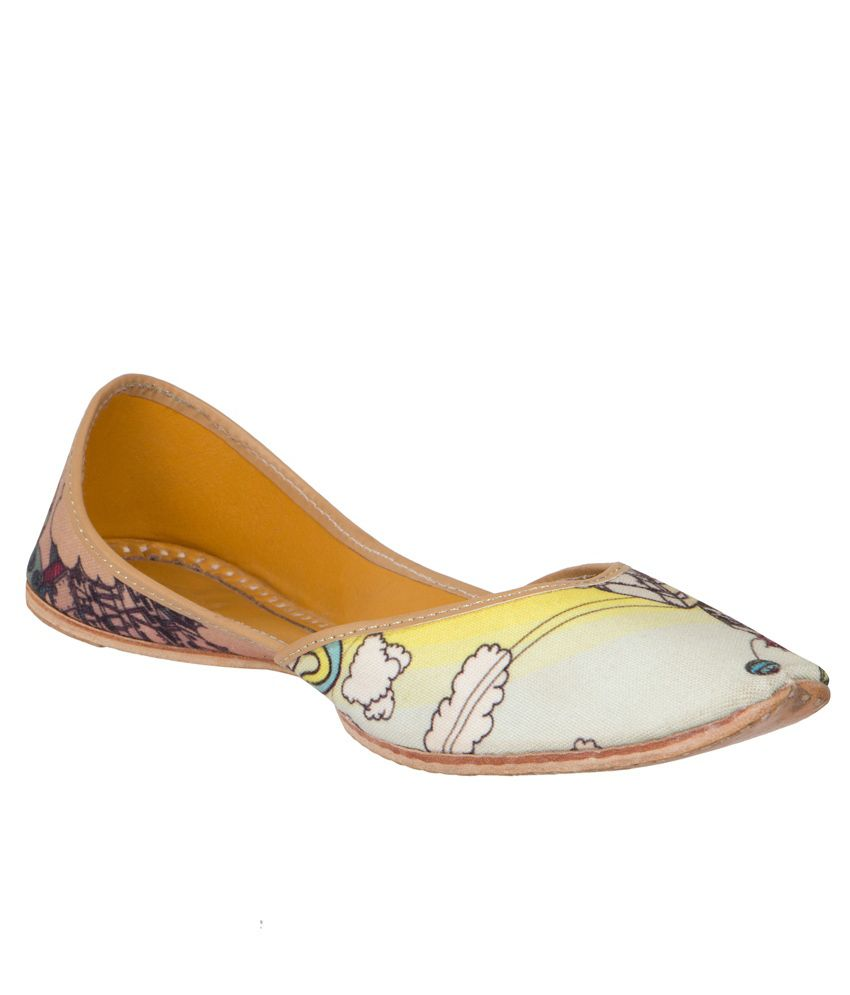 Chippinn India Multi Color Flat Ethnic Footwear