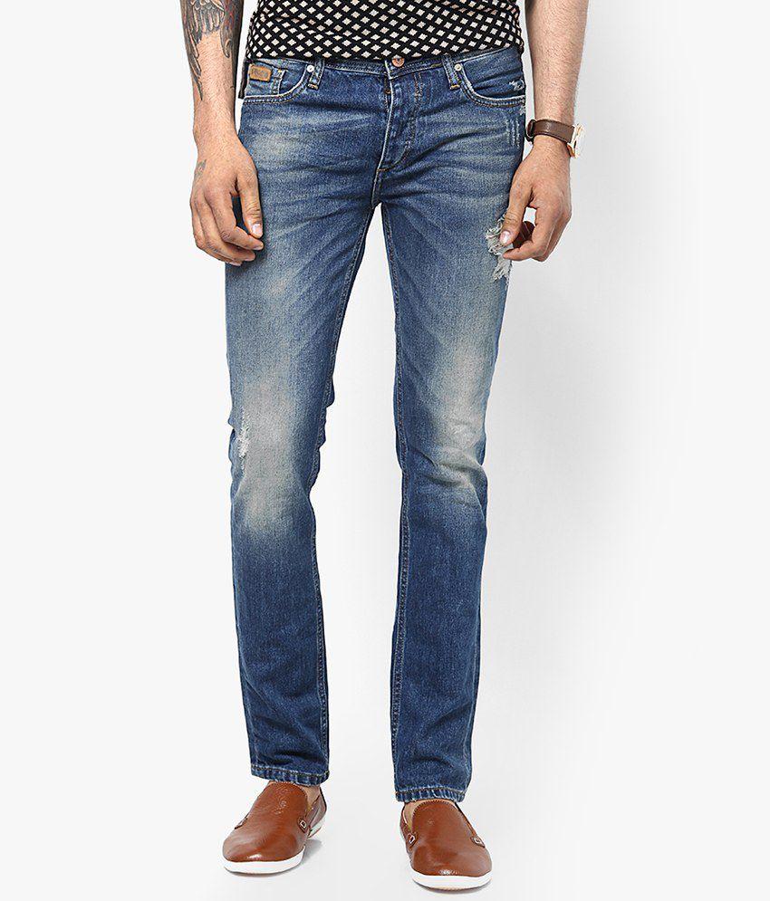 jack jones blue slim fit jeans buy jack jones blue. Black Bedroom Furniture Sets. Home Design Ideas