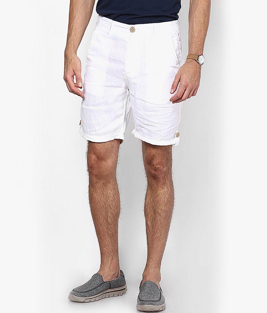 Jack & Jones White Regular Fit Shorts