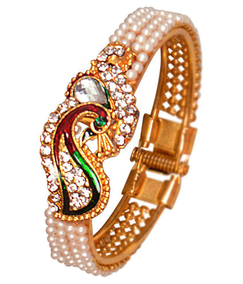 Jewellerywale Goldden Designer Kada
