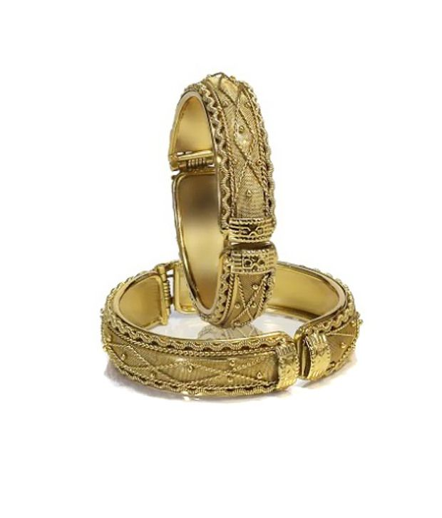 Lure Antique Gold Bangles Set