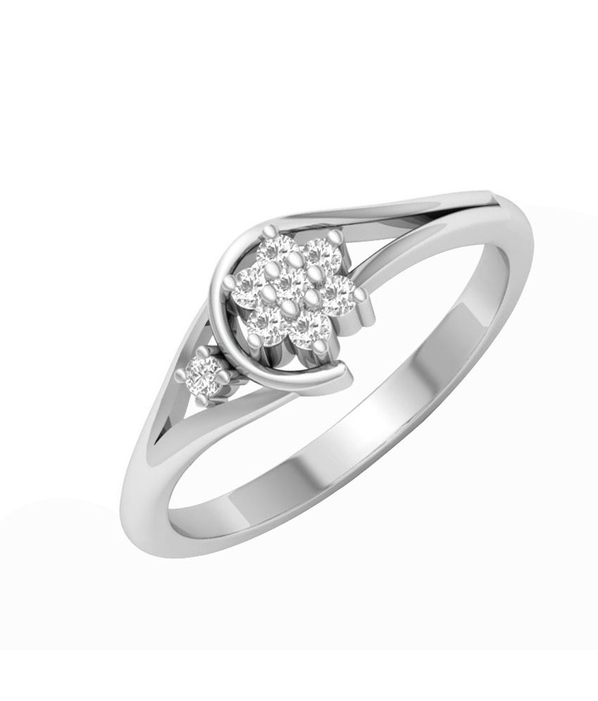 Caratify Anillo White Gold and Diamond Ring