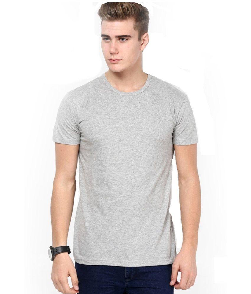 Soft Grey Cotton T-shirt