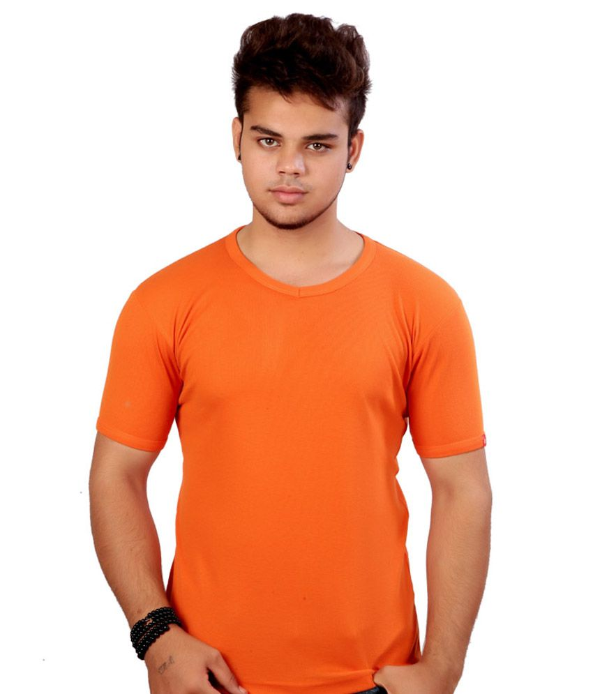 Soft Orange Cotton T-shirt