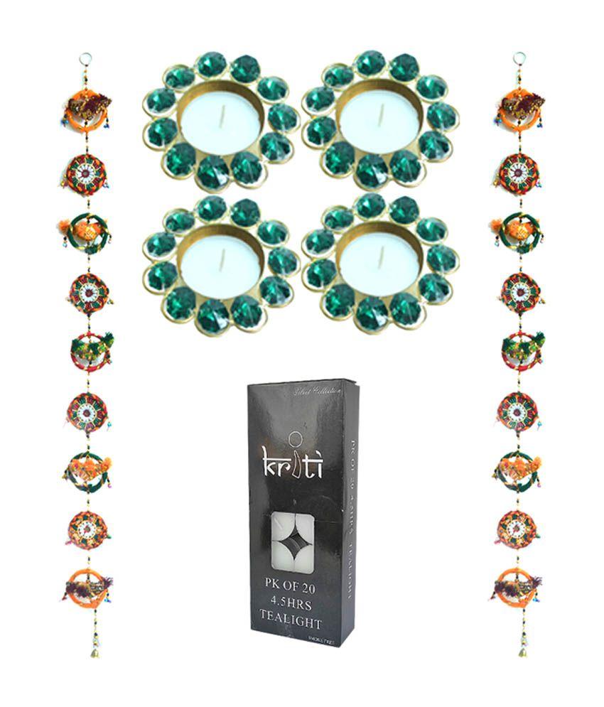 Kriti Creations Combo of Traditional Door Hangings with Designer Metal Diyas \u0026 Tea Light Candles ...  sc 1 st  Snapdeal & Kriti Creations Combo of Traditional Door Hangings with Designer ...