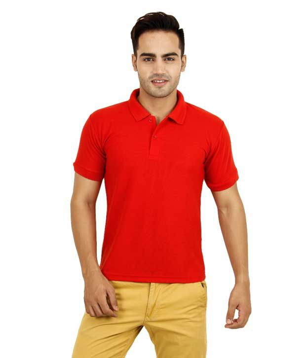Marketing Power Solutions Red Half Sleeves Basics Wear Polo T-shirt - Pack Of 2