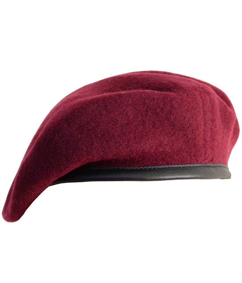 rajputana brothers maroon beret cap buy online rs snapdeal