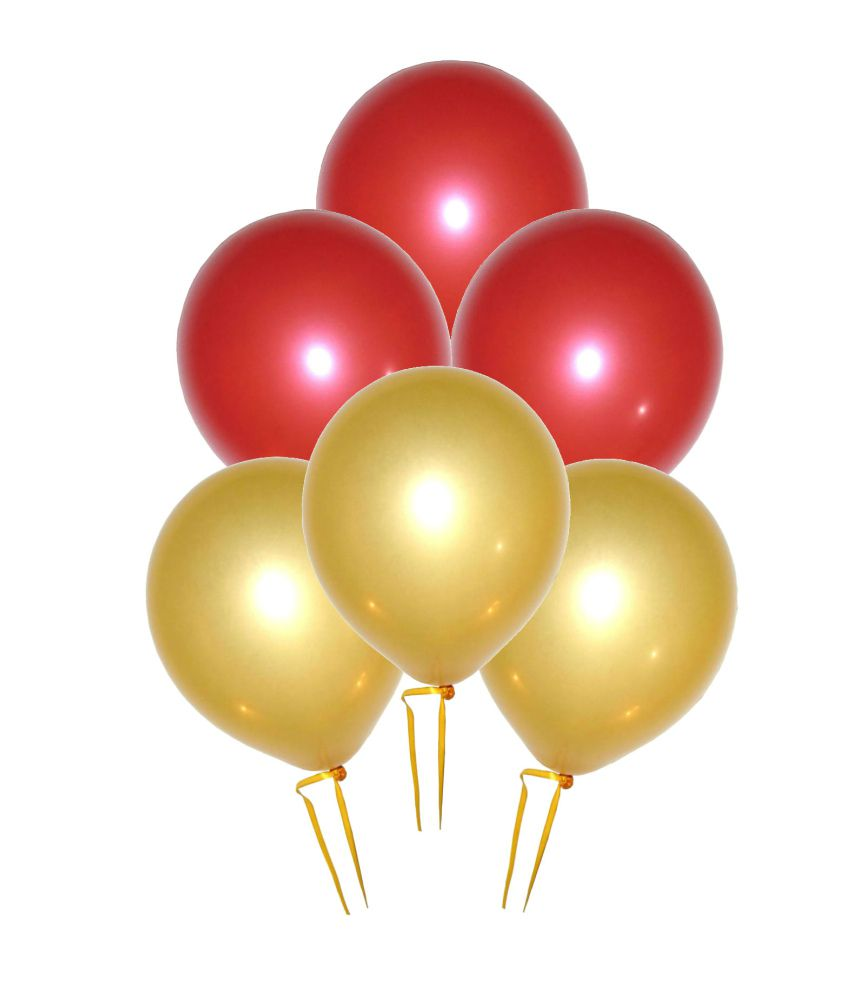 Red And Gold Balloons