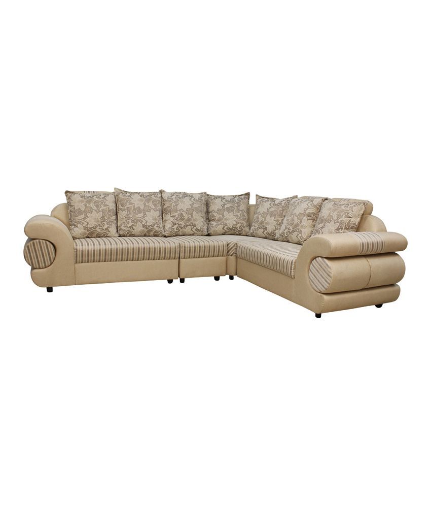 luxury l shaped sofa set in natural finish rh snapdeal com