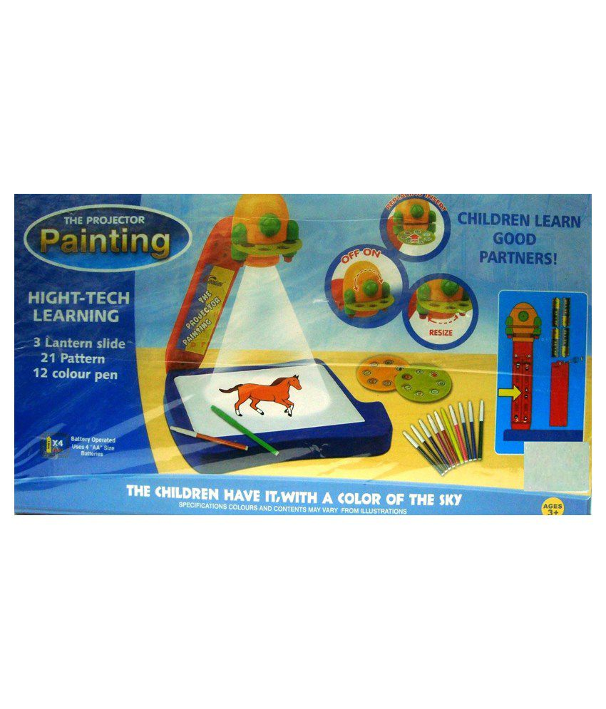 Kids online coloring and painting games -  Shop Shoppee Projector Painting Game Toy Set For Kids Multicolor
