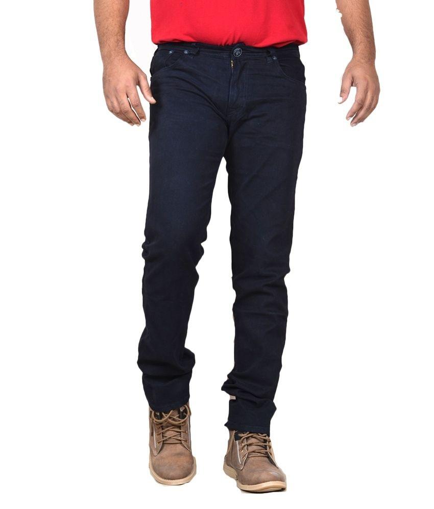 Yorky Black Cotton Blend Jeans