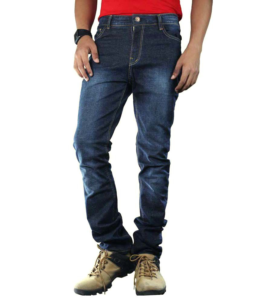 Mountain Lifestyle Cotton Blend Slim Fit Jeans For Men