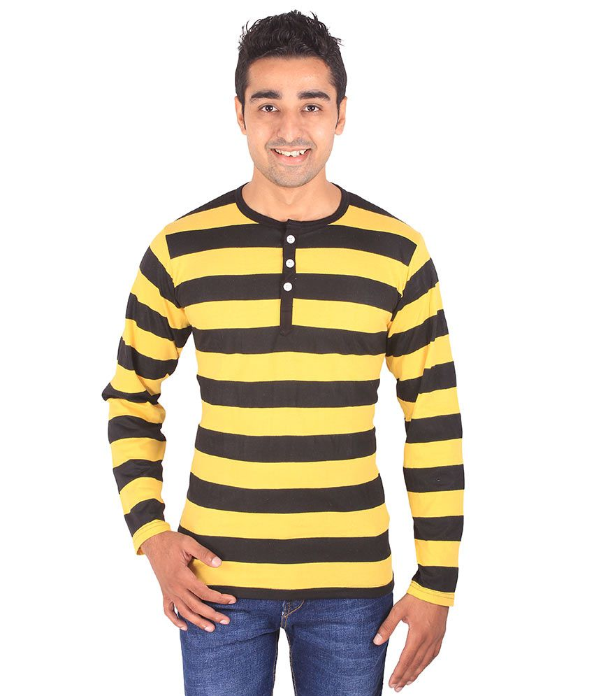 Dg Yellow And Black Cotton T-shirt