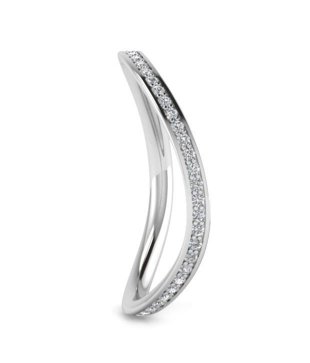 Icrjewels ICRSL50 Round CZ 92.5 Sterling Silver Ring