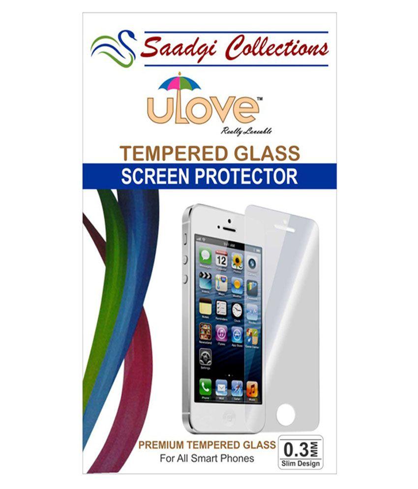 Intex Aqua Tempered Glass Screen Guard by Saadgi Collections