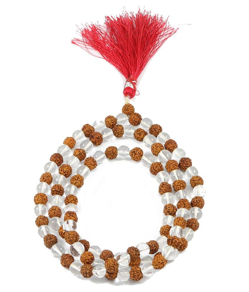 Rashi Ratan Bhagya Crystal Rudraksha Mala (Shiv Shakti Kawach) For Wearing & Jaap Mala