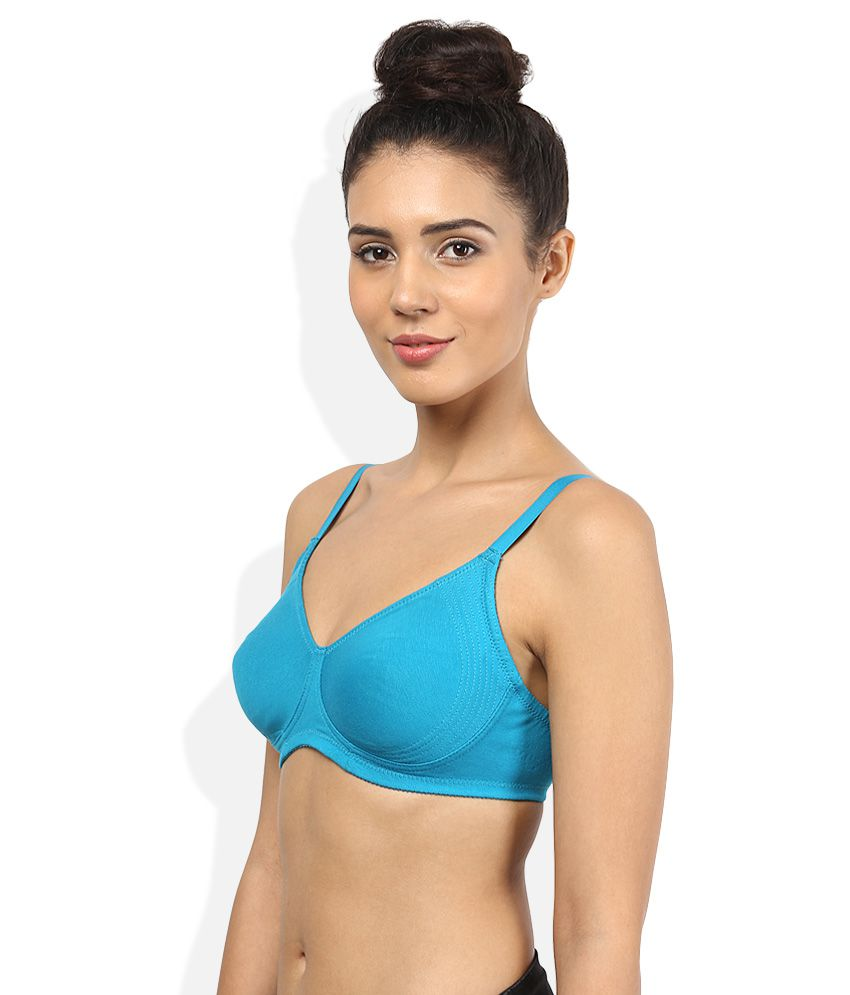 bcad039c1e66b Buy Enamor Blue Non Padded Wirefree Bra Online at Best Prices in India -  Snapdeal