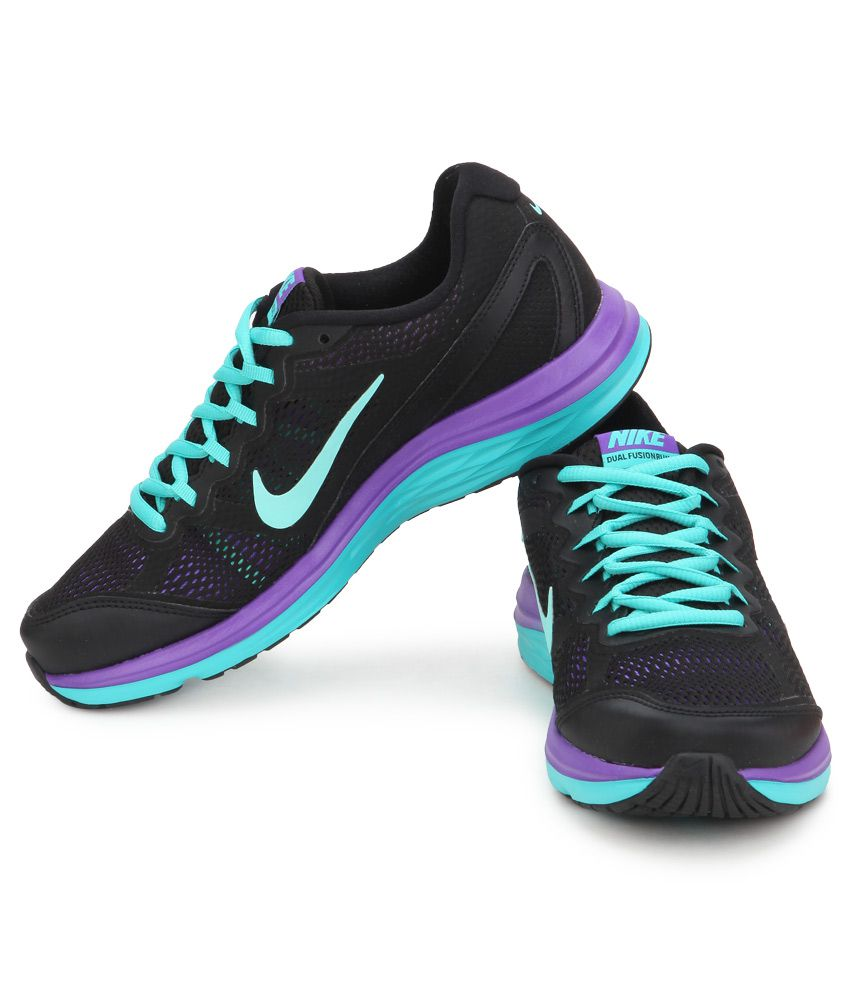 02619cca7e0 Nike Dual Fusion Run 3 Msl Black Sports Shoes Price in India- Buy ...