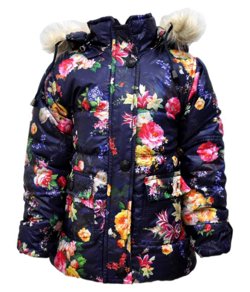 Come In Kids Purple Acrylic Full Sleeves Padded Jacket