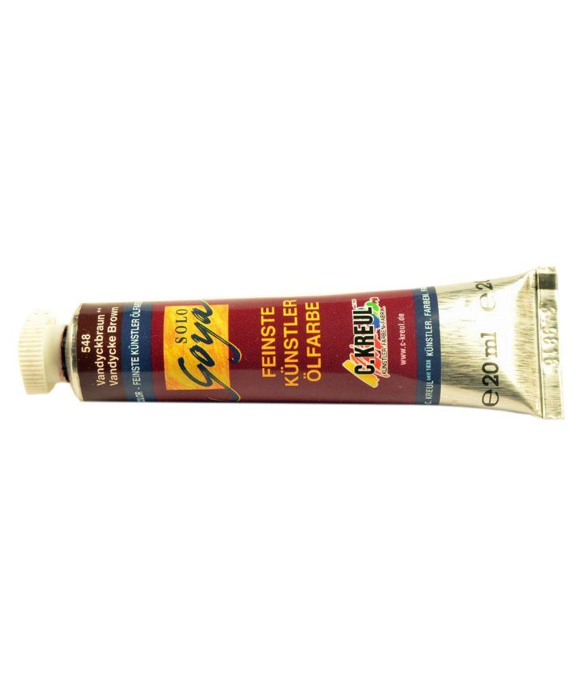 C kreul vandyke brown oil paint color buy online at best for Oil paint price