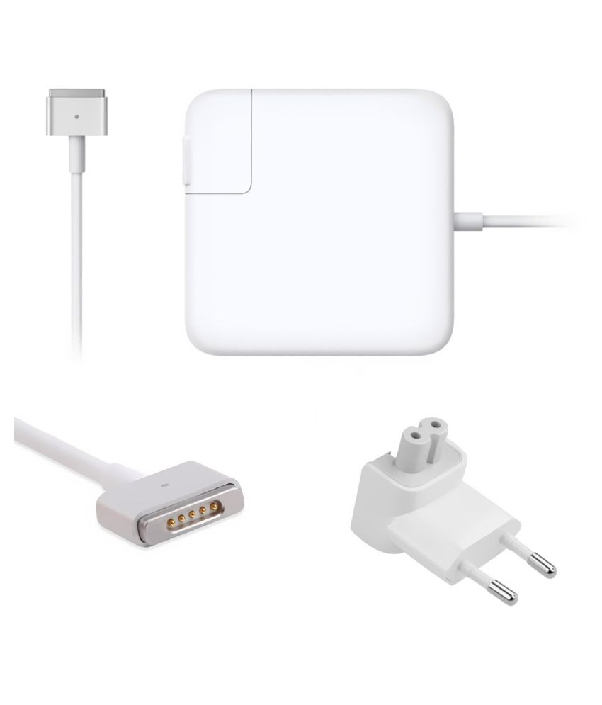 Lapsix  Magsafe-2 85w Power Adapter 20v-4.25a For Apple Macbook Ma609ll - White