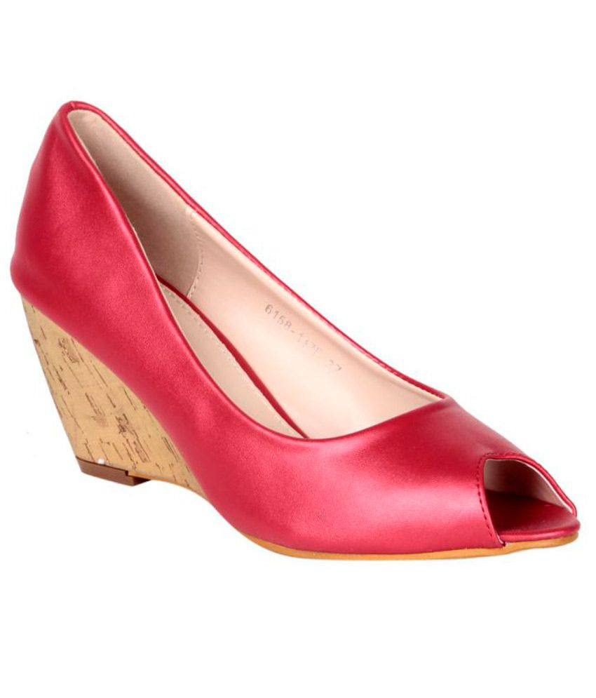 Steppings Red Wedge Heels