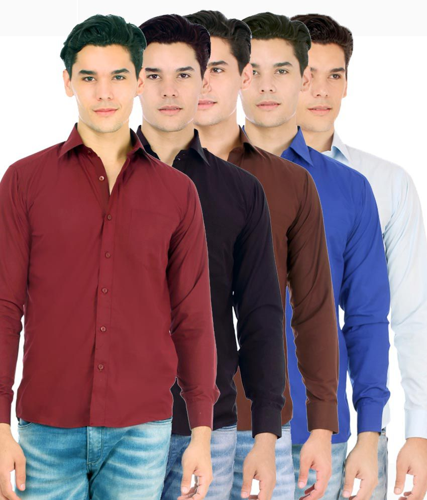 f5d0b6c9810 Unique For Men Multicolour Formal Shirt - Set Of 5 - Buy Unique For Men  Multicolour Formal Shirt - Set Of 5 Online at Best Prices in India on  Snapdeal