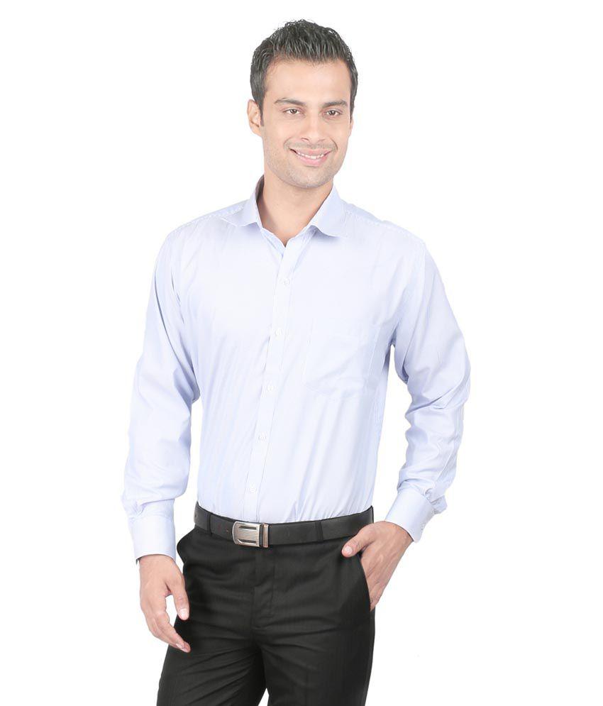 Zido Blue Formal Shirt