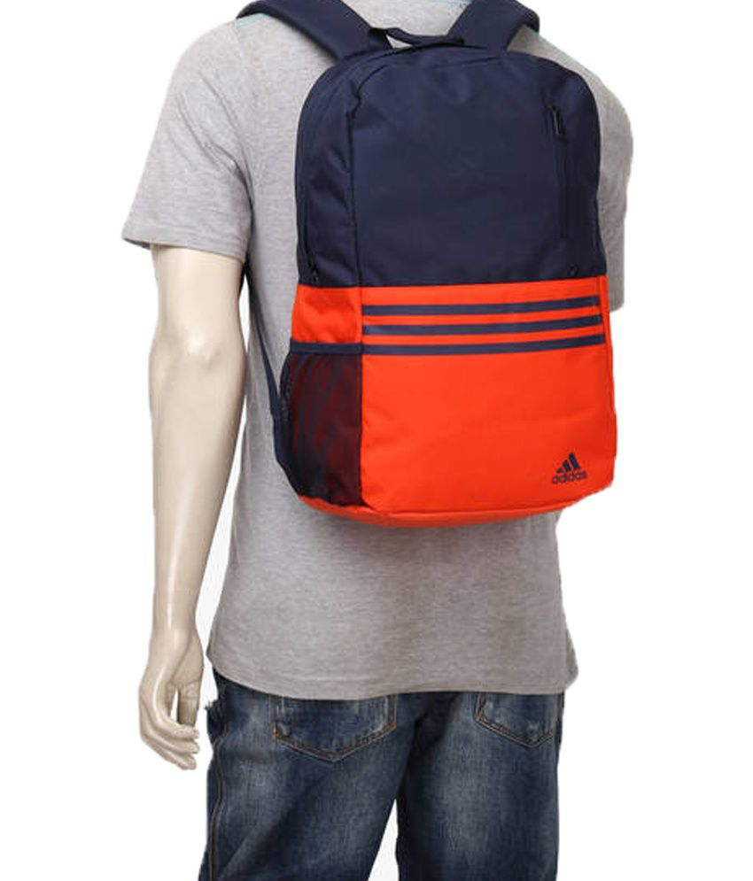 6bc07592941 Adidas Versatile 3S Orange and Navy Blue Polyester Backpack - Buy ...
