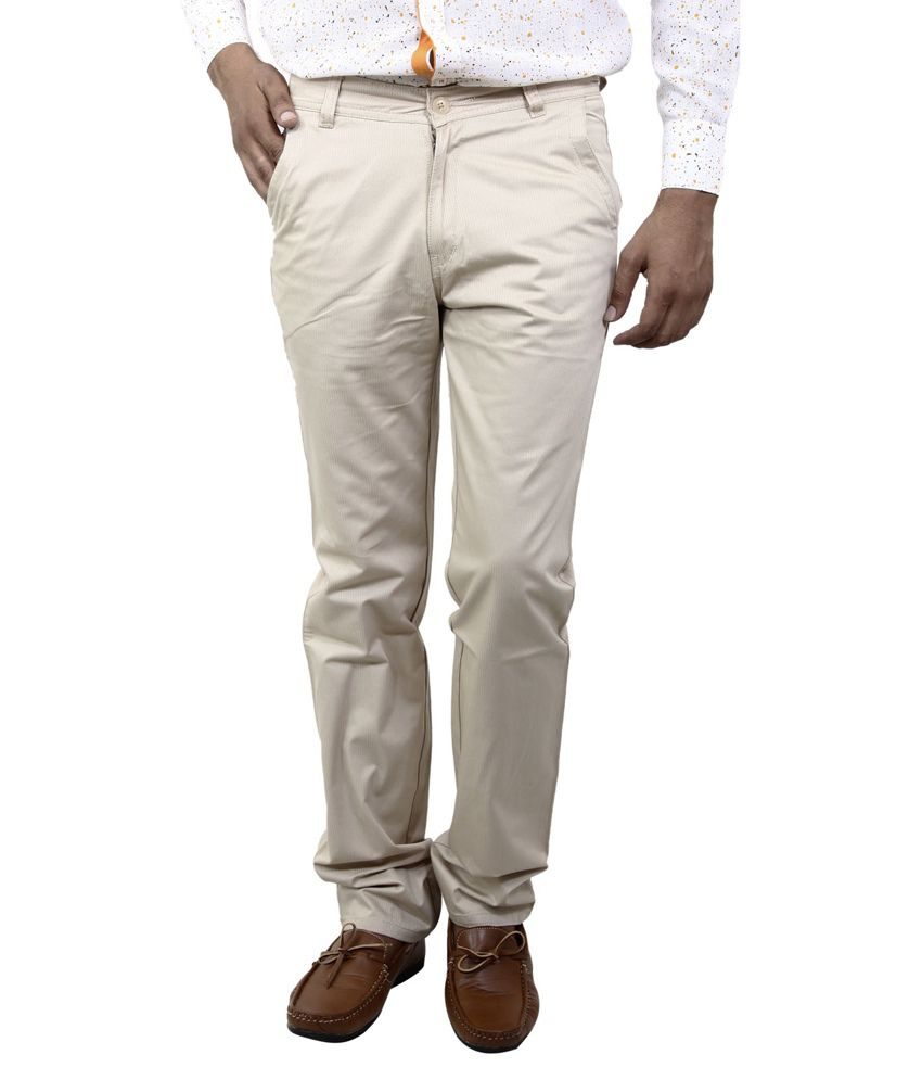 BlueTeazzers Brown Regular Chinos Trouser