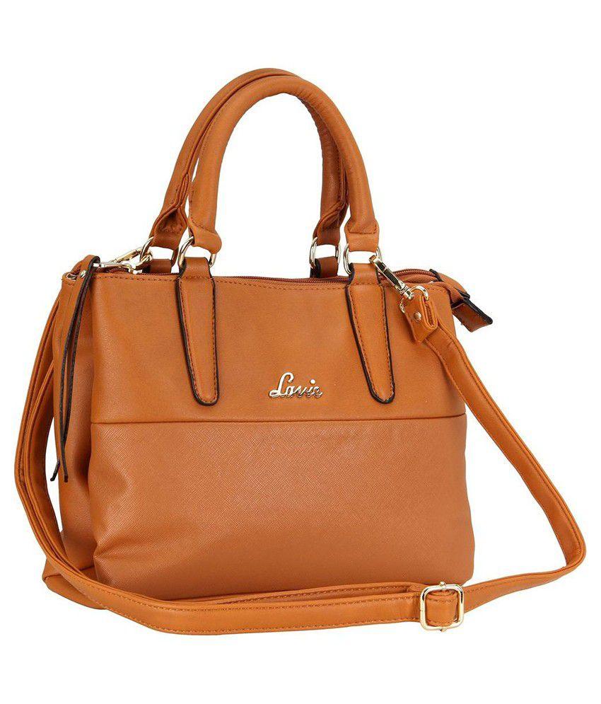8957d4a25 Lavie New Wave Tan P.U. Small Ladies Handbag - Buy Lavie New Wave ...