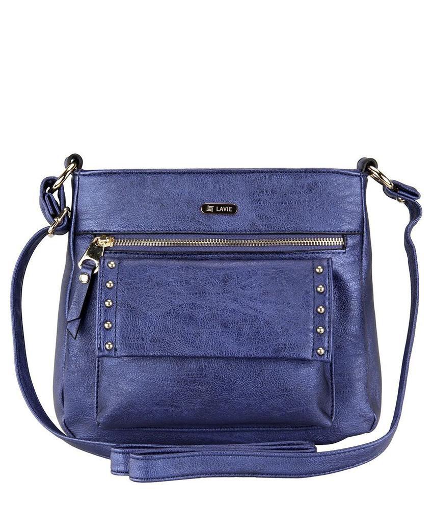 Lavie Punk Blue P.U. Small Ladies Sling Bag