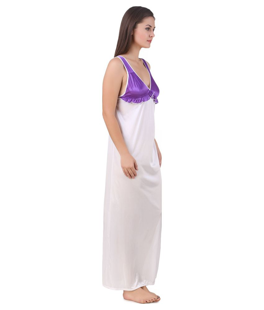 199eb3af60 Buy Masha White Satin Nighty Online at Best Prices in India - Snapdeal