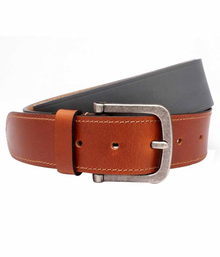 ohm brown leather belt for buy at low price in