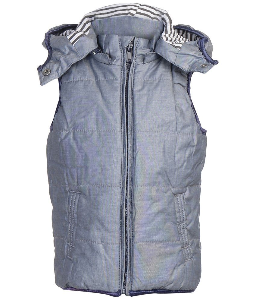 Addyvero Gray Faux Satin Quilted Jacket