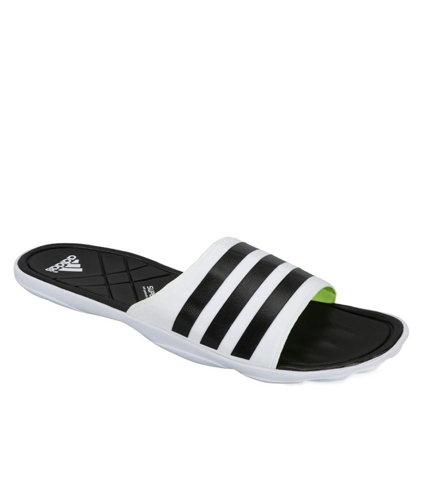 ae574a04e Adidas White Adipure Daily Wear Slippers Price in India- Buy Adidas White  Adipure Daily Wear Slippers Online at Snapdeal