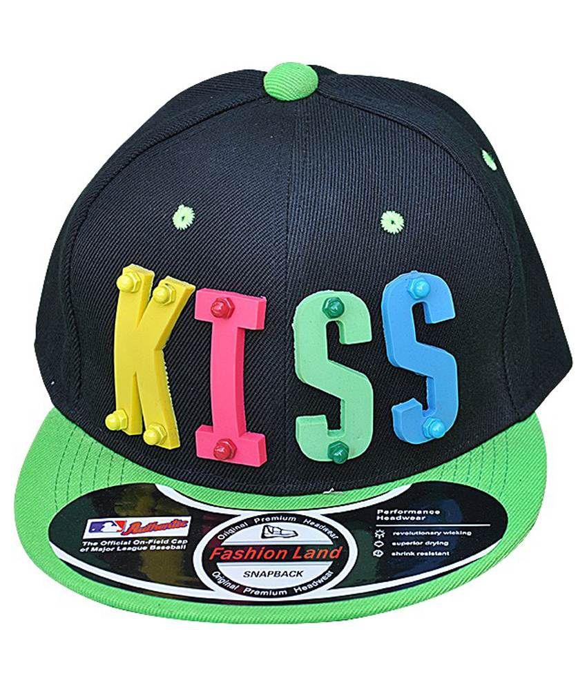 Fashion and Freedom Black Kiss Premium Solid Snapback Hip Hop Cap