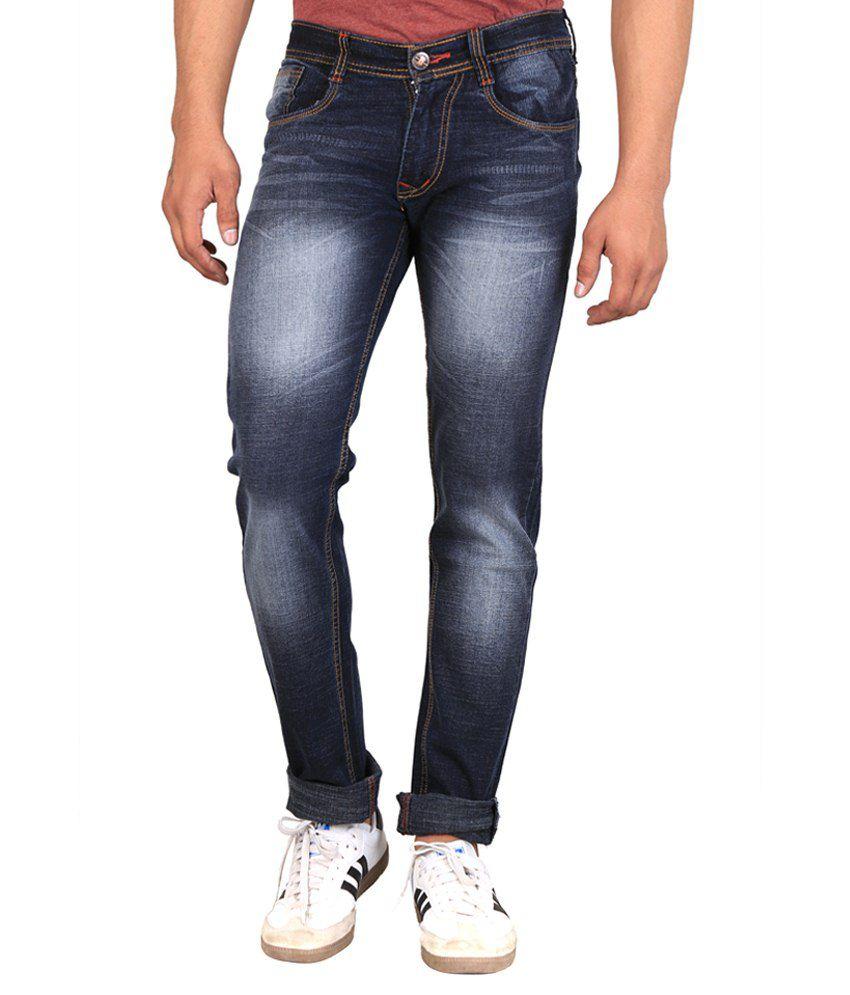 X-Crosss Blue Slim Fit Jeans