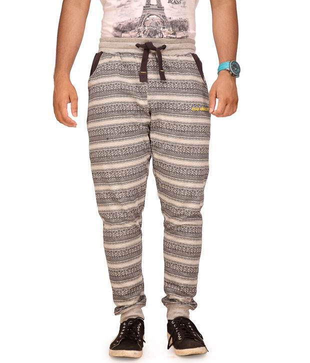 Cult Fusion Gray Cotton Trackpants